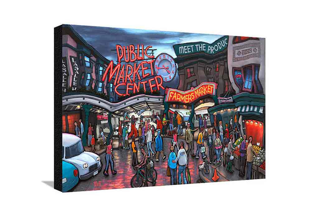 Pike Place Market Seattle Large Canvas