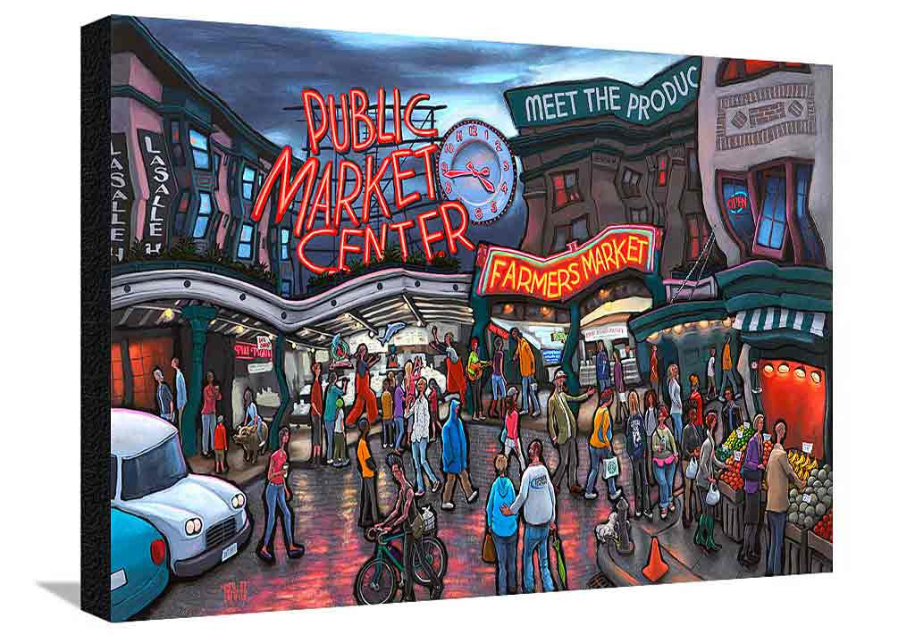 Pike Place Market Seattle XL Canvas