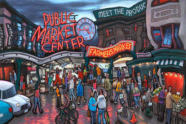 Pike Place Market Original Painting