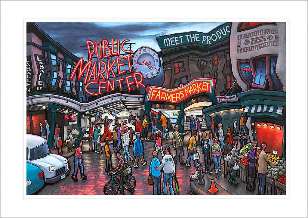 Pike Place Market Seattle Small Canvas