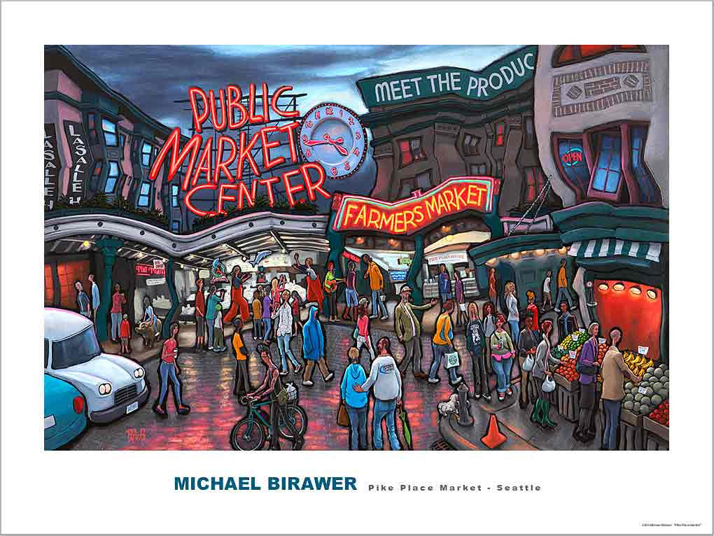 Pike Place Market Seattle Poster