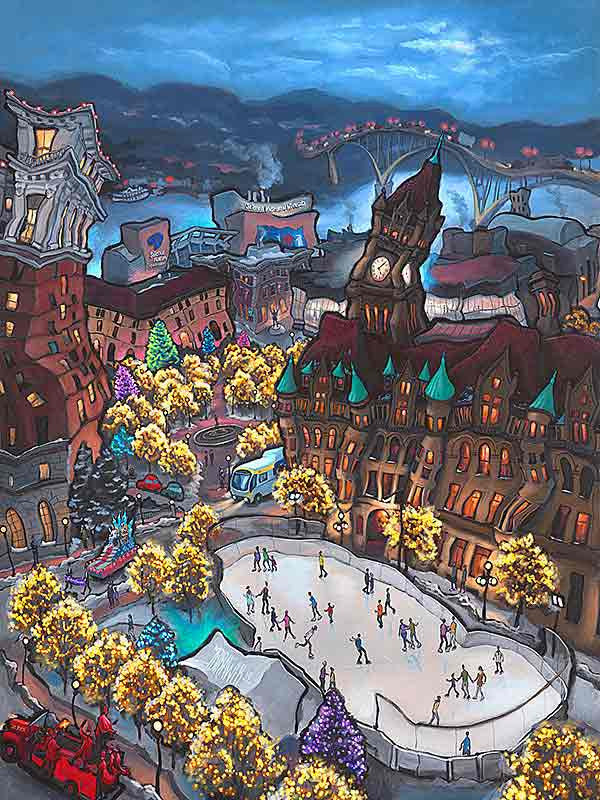 Rice Park Original Painting