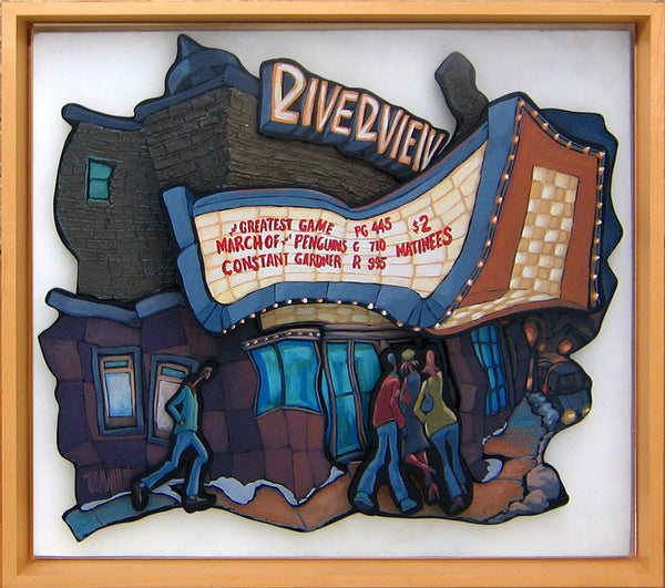 Riverview Theater Cutout Painting