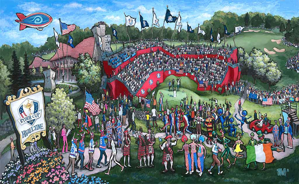 Ryder Cup 2016 Original Painting