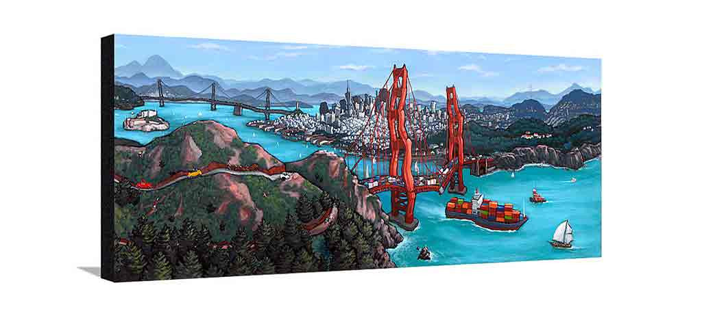 Golden Gate San Francisco Large Painting