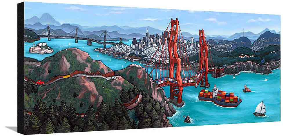 Golden Gate San Francisco XL Canvas