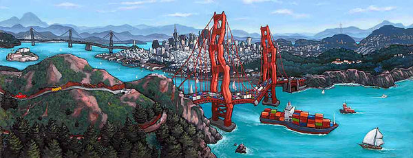 Golden Gate San Francisco Original Painting