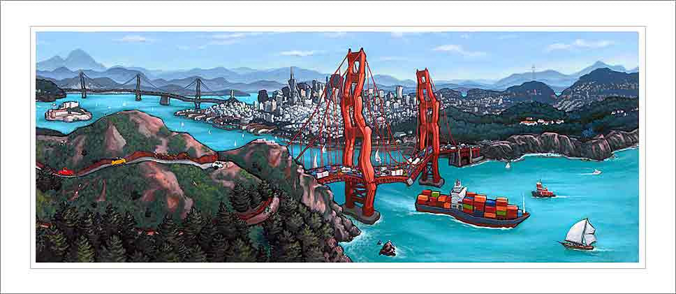 Golden Gate San Francisco Small Canvas