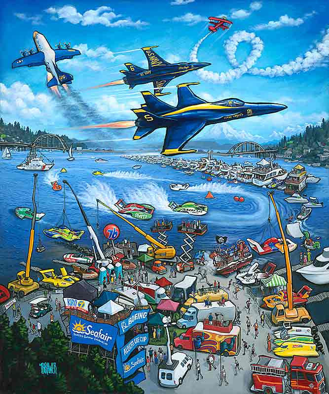 Seafair 65th Anniversary Original Painting