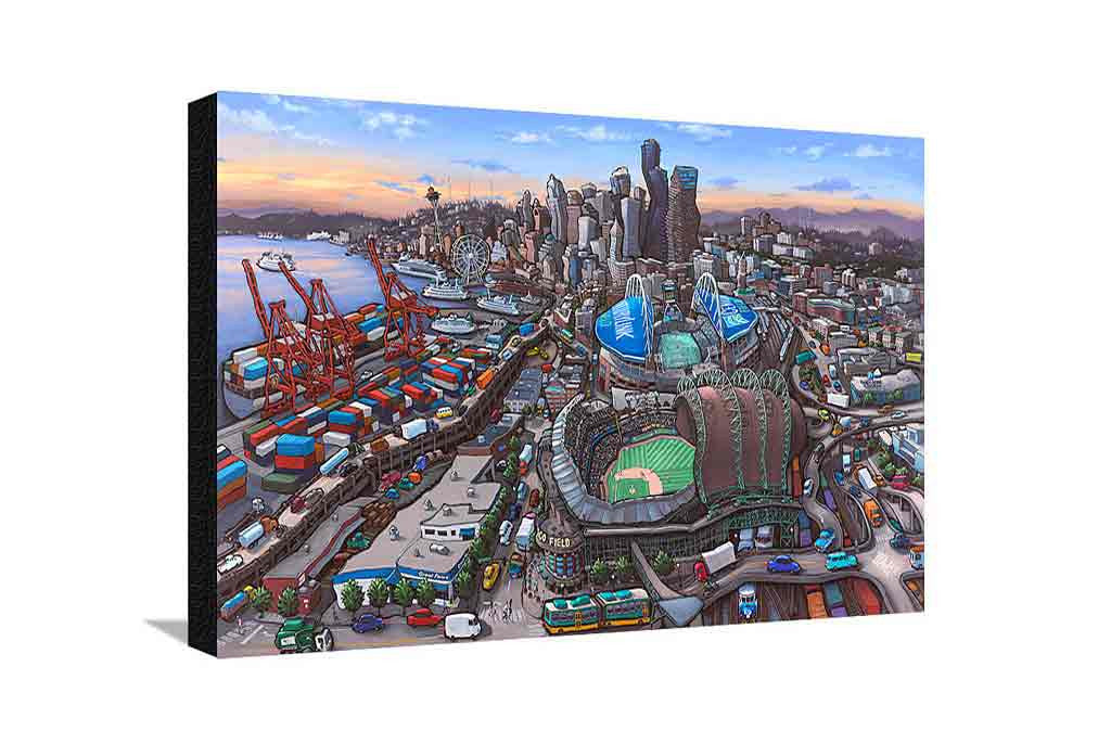 Seattle Stadiums Large Canvas