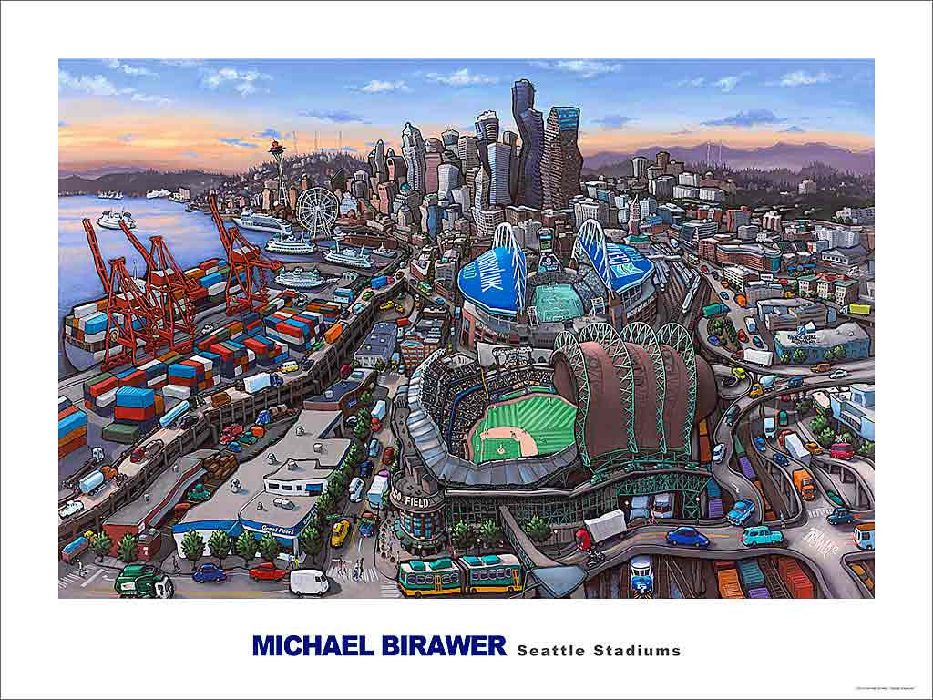 Seattle Stadiums Poster