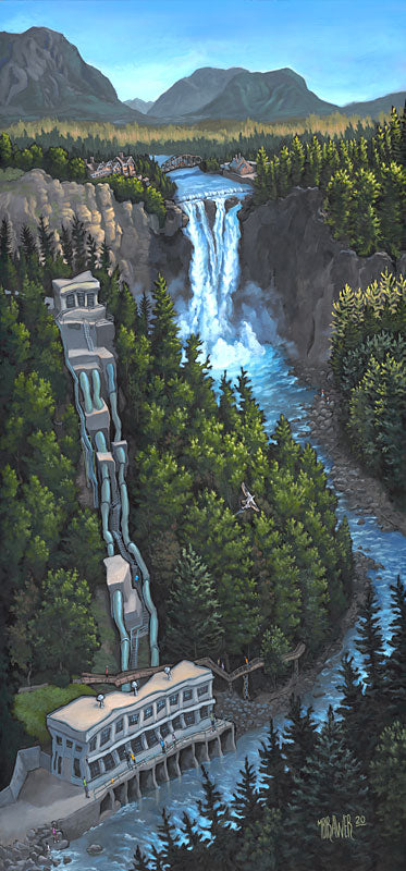 Snoqualmie Falls Original Painting