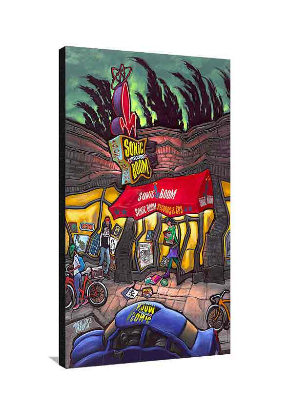 Sonic Boom Records Large Canvas