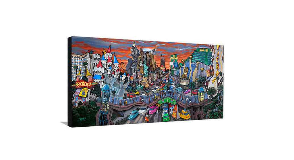 South Strip Las Vegas Medium Canvas