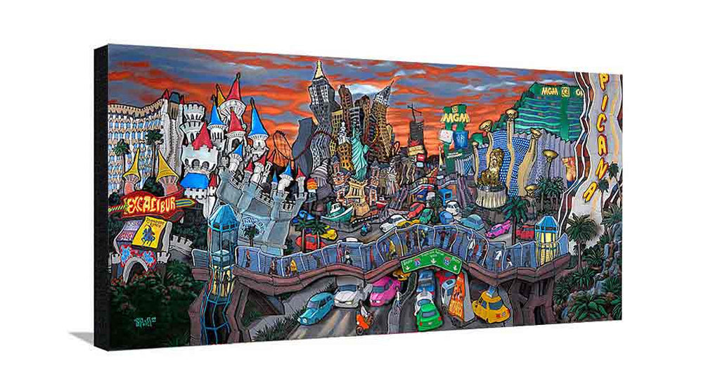 South Strip Las Vegas Large Canvas