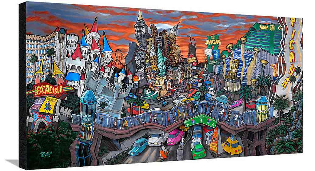 South Strip Las Vegas XL Canvas