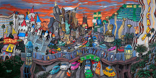 South Strip Las Vegas Original Painting