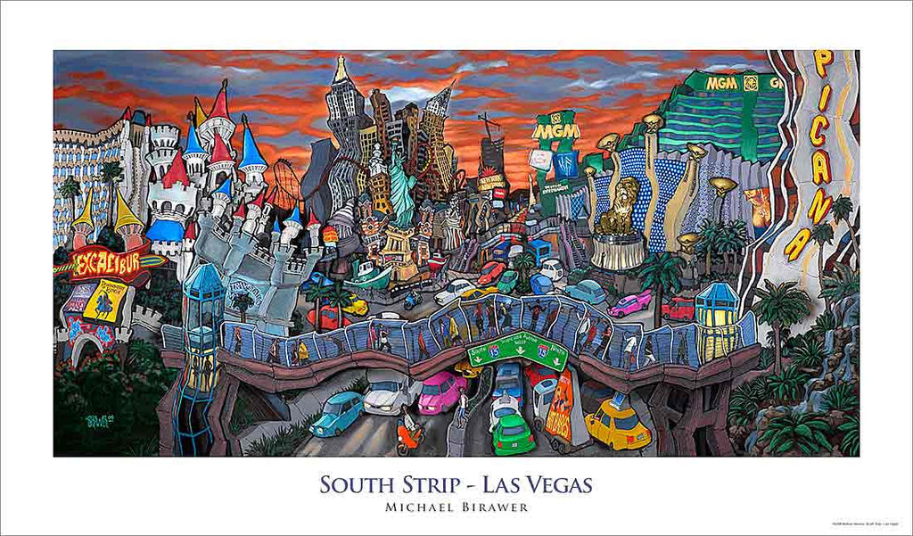 South Strip Las Vegas Poster