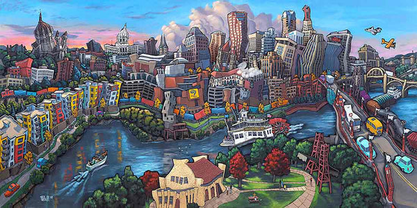 Downtown Saint Paul Original Painting