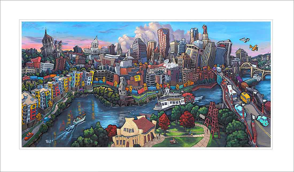 Downtown Saint Paul Small Canvas
