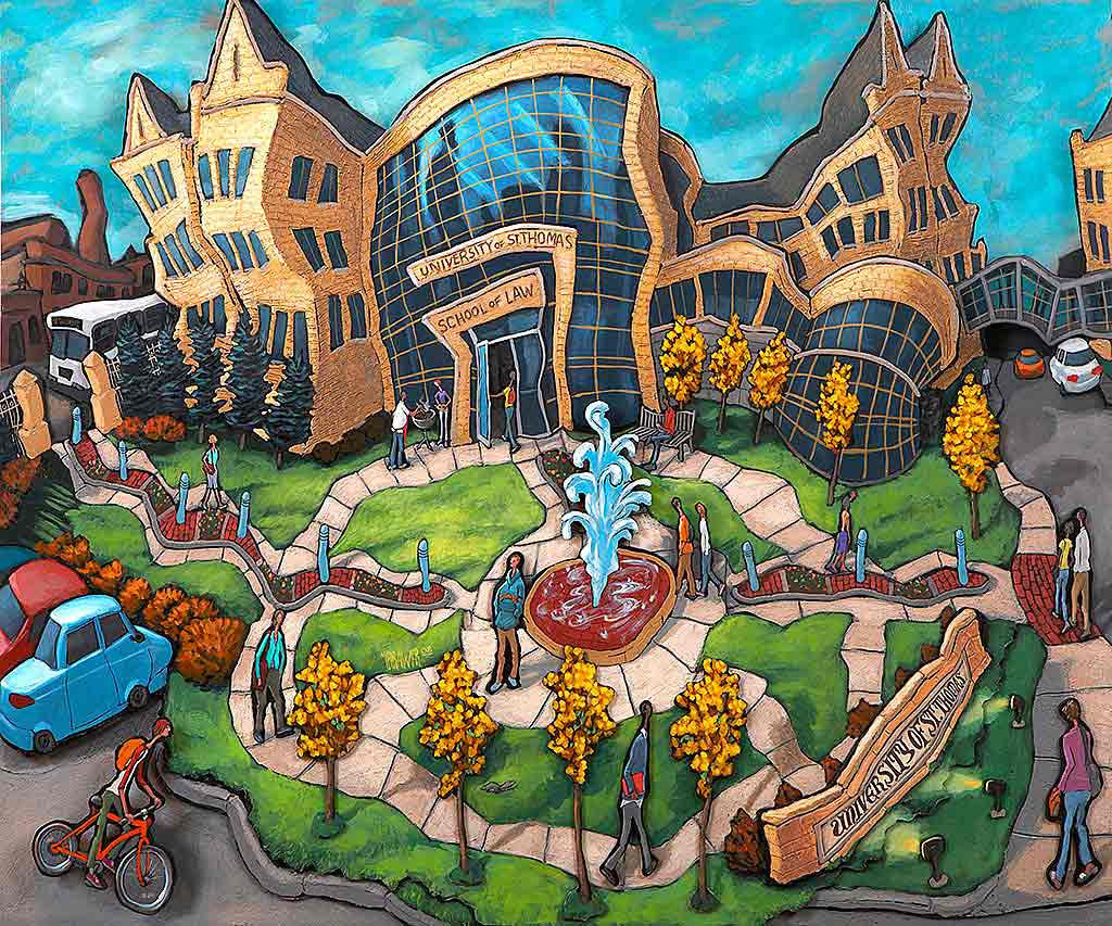 University of St. Thomas Law Original Painting