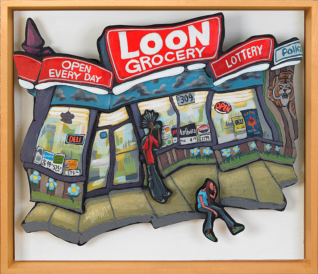 Loon Grocery Cutout Painting