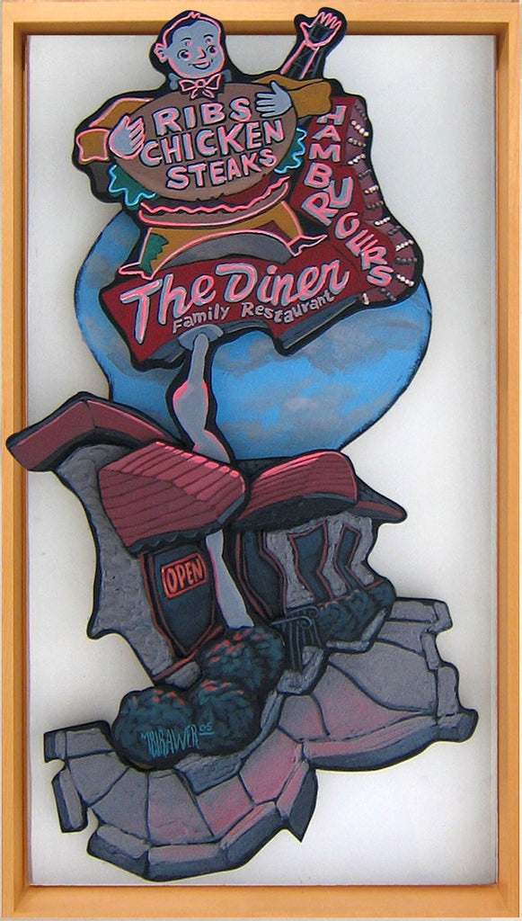 The Diner Cutout Painting