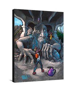 Fremont Troll Large Canvas
