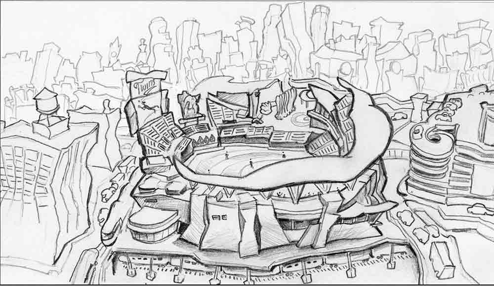 Target Field - Home of the Twins Concept Drawing