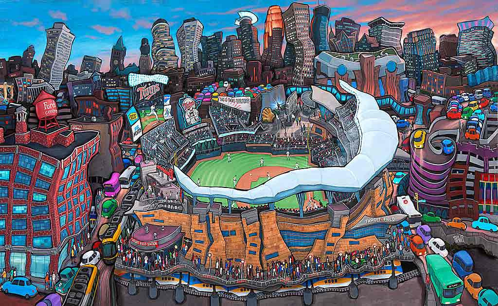 Target Field - Home of the Twins Original Painting