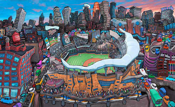 Target Field Home Of The Twins Original Painting