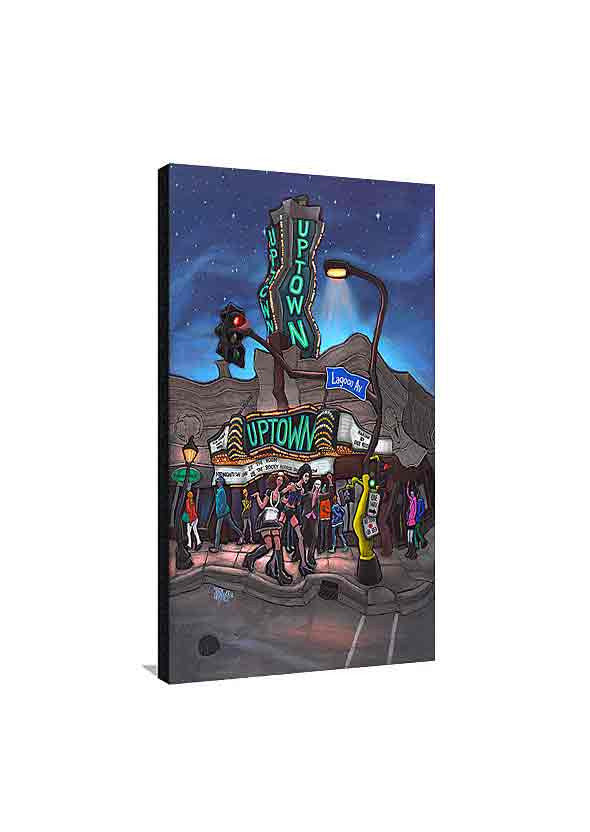 Uptown Theater Medium Canvas
