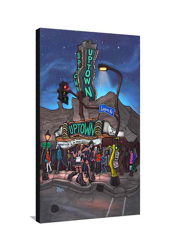 Uptown Theater Large Canvas