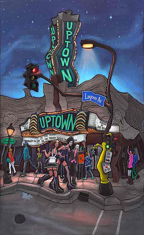 Uptown Theater Original Painting