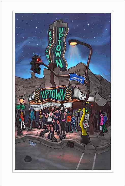 Uptown Theater Small Canvas