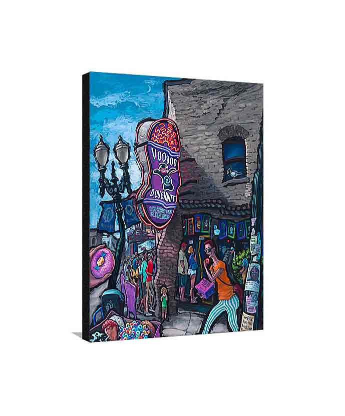 Voodoo Doughnut Medium Canvas