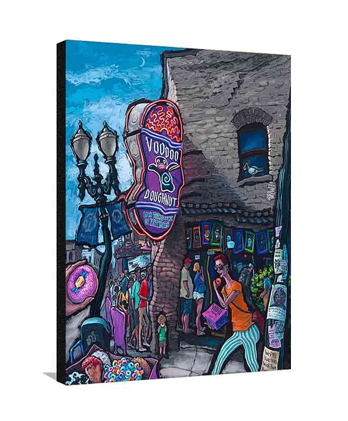 Voodoo Doughnut Large Canvas