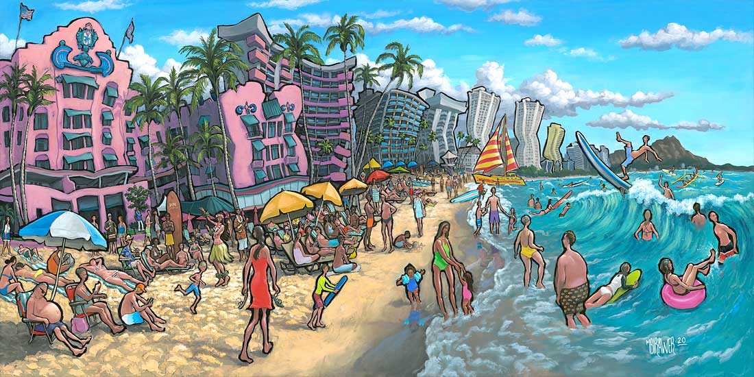 Waikiki Beach Original Painting