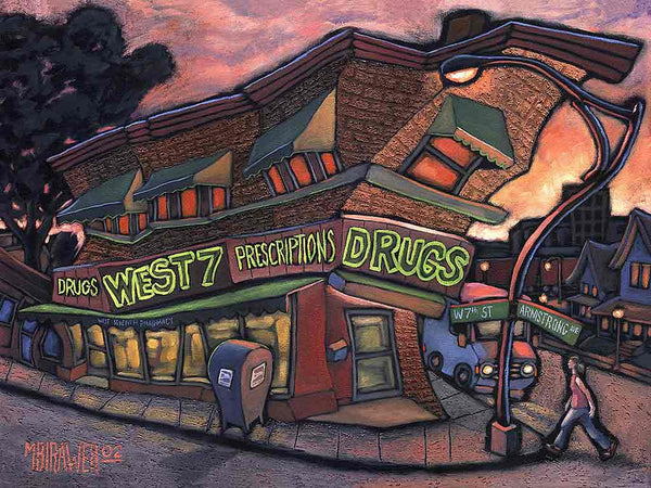 West 7th Drug Original Painting