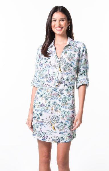 Tori Richard Aloha Toile Gidget Dress - Ship Chic