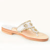 Palm Beach Sandals Classic White/Gold - Ship Chic