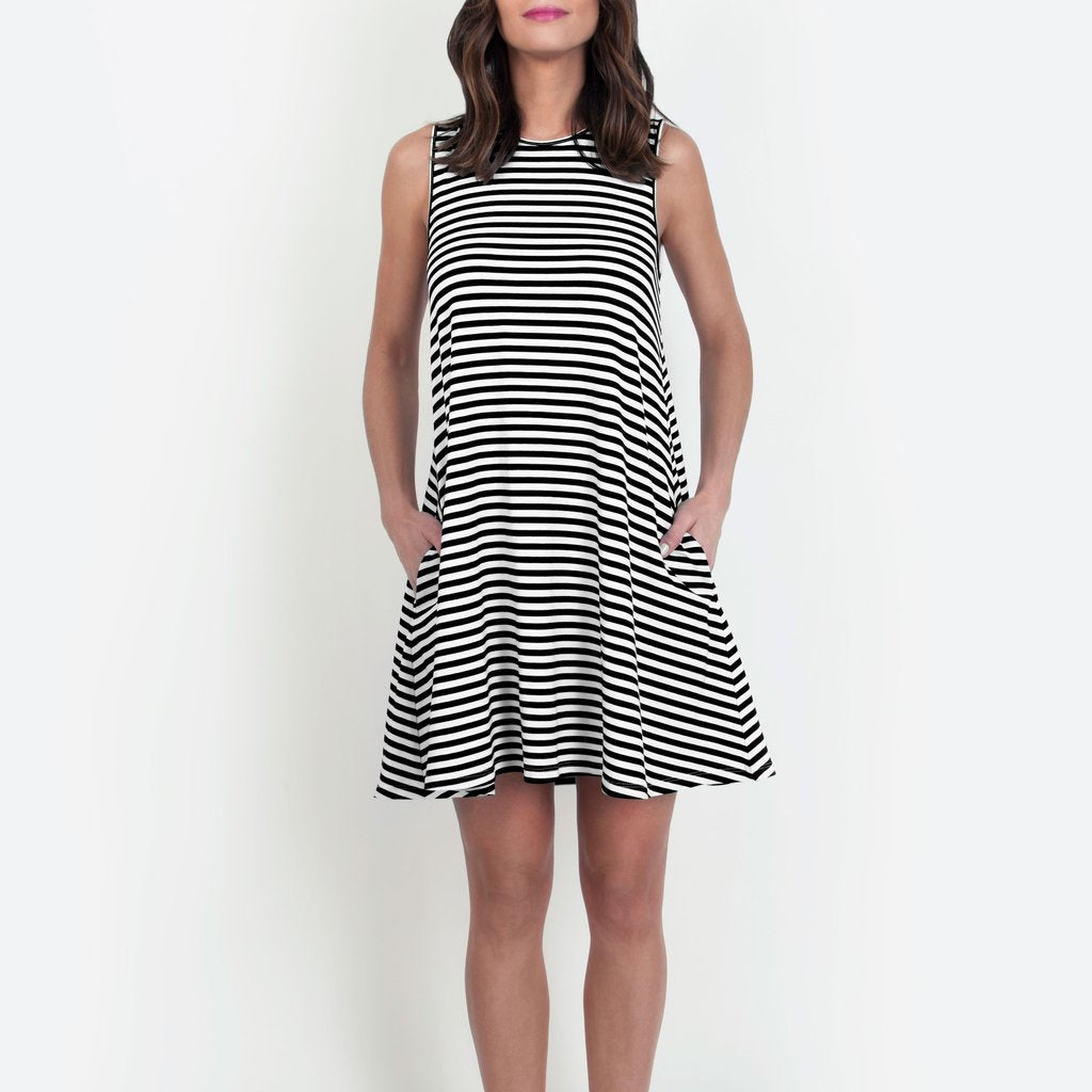 JaneHudson Jennings Black and White Dress - Ship Chic