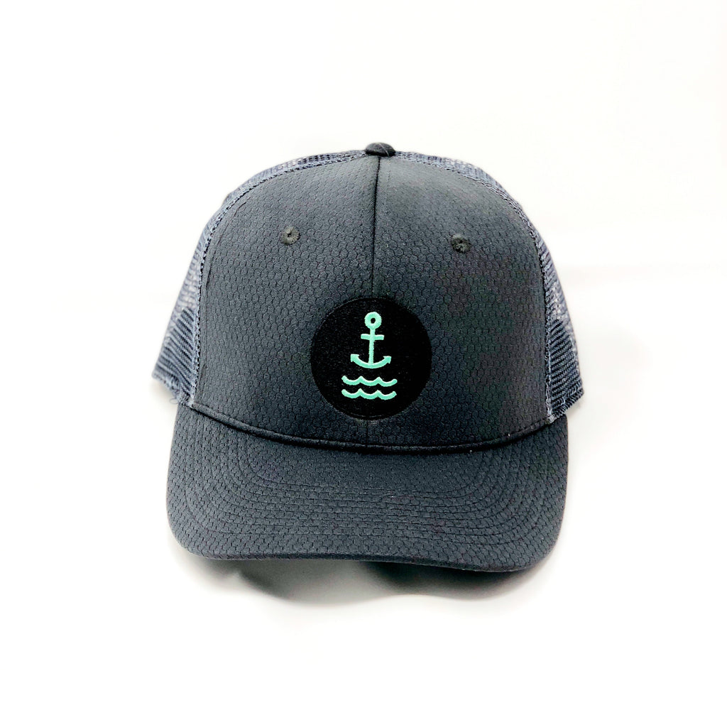 Ship Chic Ship Chic Black Performance w/ Seafoam Hat - Ship Chic