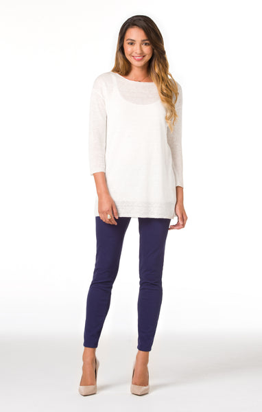 Tori Richard Santorini Knit Aida Sweater - White - Ship Chic