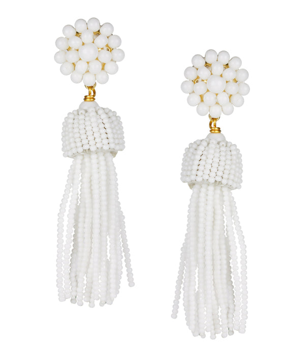 Lisi Lerch Tassel Earrings - White - Ship Chic