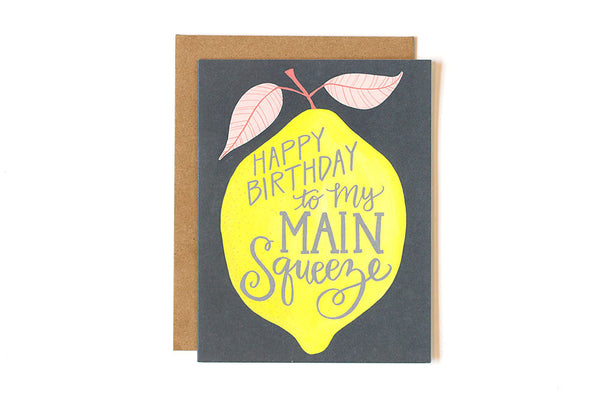 onecanoetwo Lemon Birthday Main Squeeze Card - Ship Chic