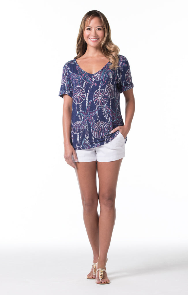 Tori Richard String of Pearls Bali Top - Ship Chic