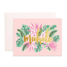 Fox & Fallow Mahalo Card - Ship Chic