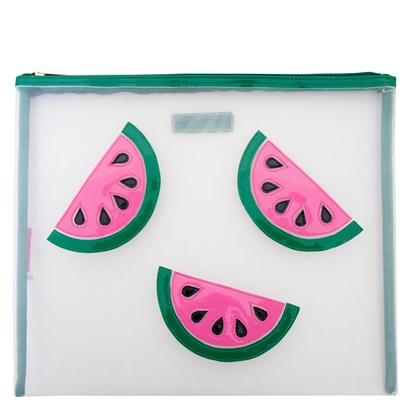 Lolo White Mesh Lydia with Pink Watermelon Slices - Ship Chic