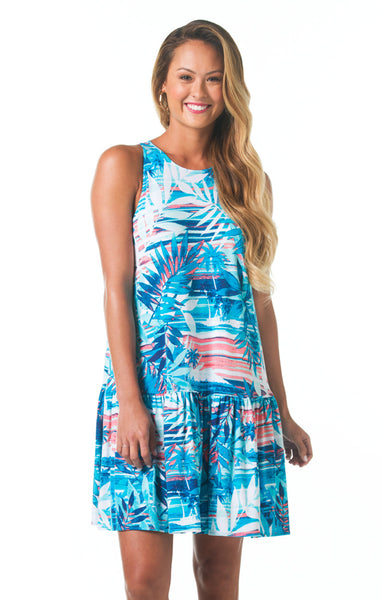 Tori Richard Blue Horizon Morgan Dress - Ship Chic